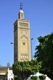 för hassan ii morocco för casablanca ingångsframdel fyrkant moské Arkivbild