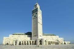för hassan ii morocco för casablanca ingångsframdel fyrkant moské Arkivbilder