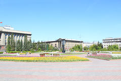 24 2009 för havana för byggnadschecuba februari guevara fyrkant för rotation bild krasnoyarsk Arkivfoto