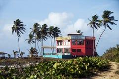 för havrehotell för strand färgrik ö nicaragua för hus Royaltyfri Bild