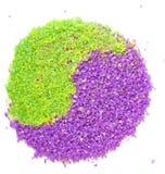 för havstecken för grön lavendel salt yang för tea yin arkivfoton