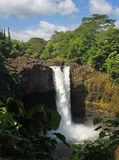 för hawaii för 03 stor falls regnbåge ö Arkivfoto