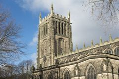 För helgonförsamling för yttersida allra kyrkan, Loughborough, Leiceste royaltyfria bilder