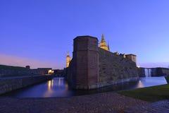 för helsingor för slottdenmark hamlet legendariskt ställe kronborg royaltyfria bilder
