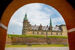för helsingor för slottdenmark hamlet legendariskt ställe kronborg royaltyfri fotografi