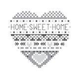 För hem- vektor för modell för ö sötsakhem för hjärta ganska Royaltyfri Fotografi