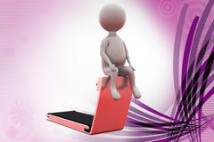 för hemidrottshall för man 3d illustration Royaltyfri Fotografi