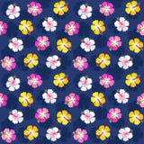 För hibiskusbakgrund för färgrik sommar blom- marin för rosa färger royaltyfri illustrationer