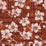 För hibiskusblommor för stam- tappning hawaiansk tapet royaltyfri illustrationer