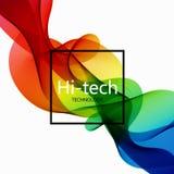 För high techabstrakt begrepp för vektor modern färgrik bakgrund vektor illustrationer