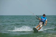 för hinhua för 2011 kopp värld kiteboaridng arkivfoto