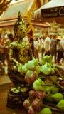 För hipsterstil för tappning retro effekt filtrerad bild av Buddhastatyn Royaltyfri Bild