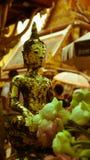 För hipsterstil för tappning retro effekt filtrerad bild av Buddhastatyn Royaltyfri Fotografi