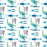 För hjälpmedelhälsovård för tandläkare vektor för bakgrund för modell för medicinsk för medicin för instrument för stomatology kl royaltyfri illustrationer