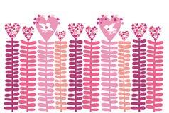 för hjärtaförälskelse för bakgrund blom- vektor Arkivbild