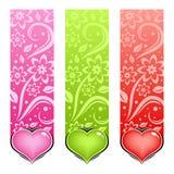 för hjärtaförälskelse för kort glansig vektor Royaltyfria Bilder