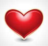 För hjärtaform för vektor glansig illustration Royaltyfri Bild