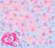 för hjärtaillustration för bakgrund eps10 vektor för pink Fotografering för Bildbyråer