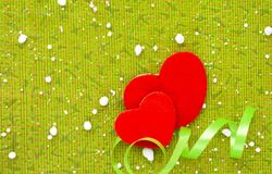 För hjärtavalentin för förälskelse två dag på vit bakgrund royaltyfri fotografi