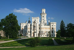 för hlubokanad för slott tjeckisk vltavou för republik Arkivfoto