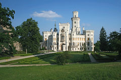 för hlubokanad för slott tjeckisk vltavou för republik Royaltyfri Bild