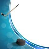 För hockeyblått för bakgrund abstrakt illustration för ram för puck för is Royaltyfria Bilder