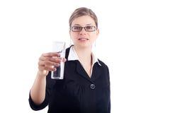 för holdingvatten för affär glass kvinna Royaltyfria Foton