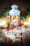 För HolidayDrawn för glad jul för text ferie snö Arkivbilder