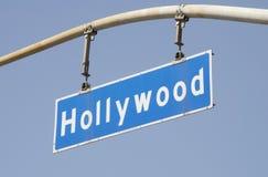 för hollywood för 2 blvd gata tecken Royaltyfri Fotografi