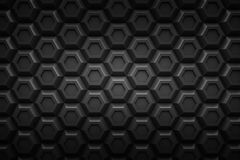 För Honeyomb för den svarta sexhörningen abstrakt begrepp 3d för svart drar tillbaka modernt teknologi Royaltyfri Foto