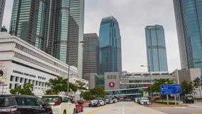 För Hong Kong för dag som ljus väg mitt går för tidschackningsperiod för panorama 4k porslinet arkivfilmer