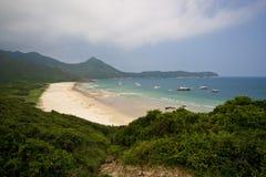 för Hong Kong för strand härlig sai kung Arkivfoton
