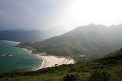 för Hong Kong för strand härlig sai kung Fotografering för Bildbyråer