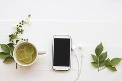 För honungcitron för växt- sunda drinkar varmt vatten för coctail arkivfoton