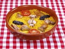 för hornougn för al arroz lagad mat rice Royaltyfri Bild