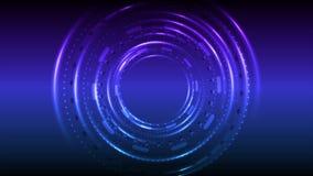 För HUD för ljust neon glödande animering för video teknologi stock illustrationer