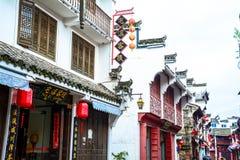 För Huizhou för forntida streetï¼ ˆChinese byggande ‰ för ¼ architectureï, arkivfoton