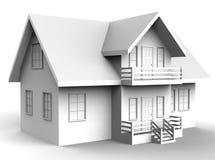 för husbild för bakgrund 3d white royaltyfri illustrationer