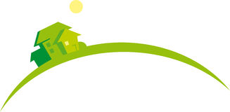 för husbilden för godset symboliserar verklig växande marke Arkivbild