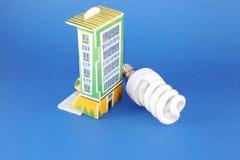 för huslampa för kula fluorescerande modell Royaltyfri Bild