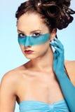 för huvuddelfantasi för konst blå flicka s Royaltyfria Bilder