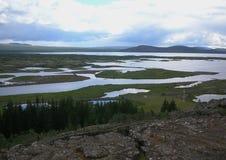 för iceland för althingiområde berömd första värld för thingvellir för parlament icelandic läge arkivfoton