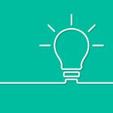 För idébegrepp för ljus kula mall vektor Arkivfoto