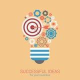 För idéinnovation för plan stil modernt begrepp för ljus kula infographic Royaltyfri Bild