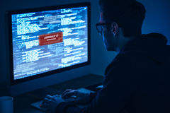 för illustrationbildskärm för dator 3d säkerhet Royaltyfri Bild