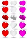 för illustrationform för hjärta 3d vektor Royaltyfri Fotografi