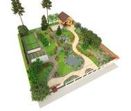 för illustrationliggande för design hög upplösning för täppa för plan Royaltyfri Bild
