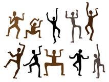 för illustrationmän för abstrakt dans etnisk vektor Royaltyfri Fotografi