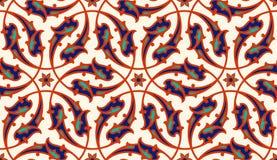 för illustrationmodell för design din blom- vektor Sömlös prydnad för traditionell turkisk ottoman för ï¿ ½ Iznik stock illustrationer