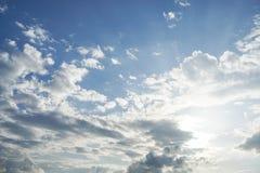 för illustrationsky för blå design tomt solljus Arkivfoto